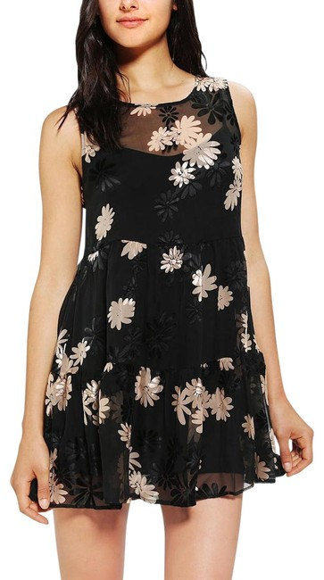 For Love Lemons Black Floral Loverboy Cocktail Dress Size 4 S Tradesy