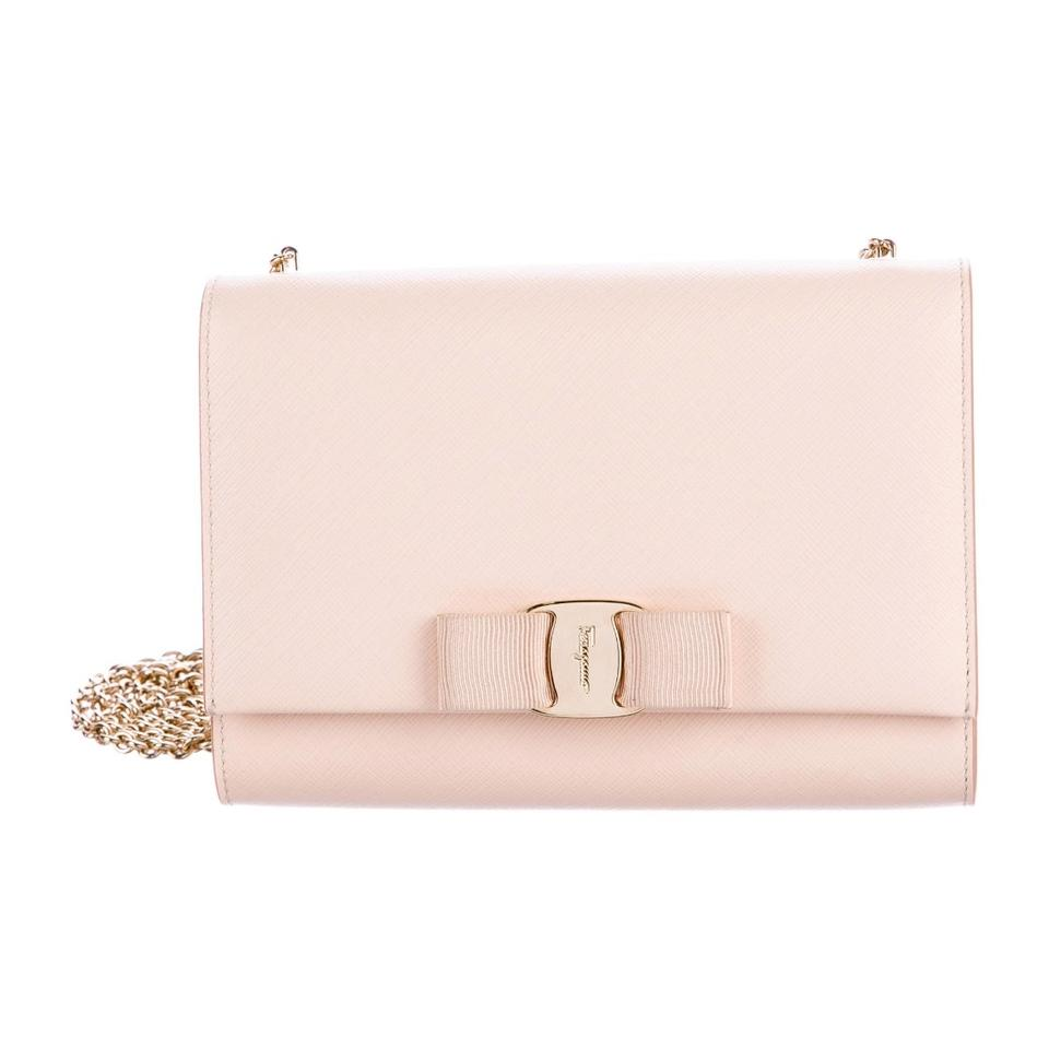 5ad99a8d19 Salvatore Ferragamo Vara Ginny Soft Pink- Blush Saffiano Leather Cross Body  Bag