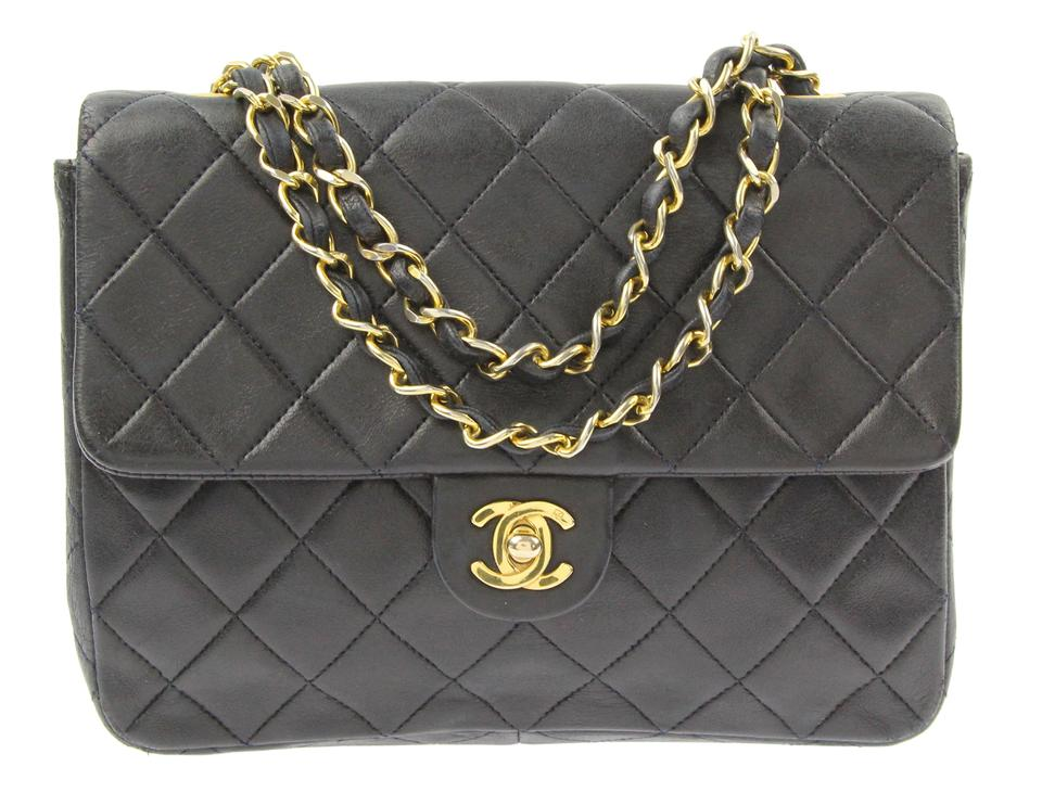 2adabe08d7e9 Chanel Classic Flap Mini Black Lambskin Leather Shoulder Bag - Tradesy