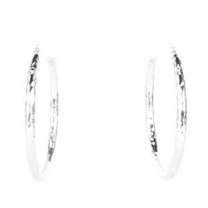 Ippolita Ippolita Sterling Silver Hammered Classico Hoop Earrings