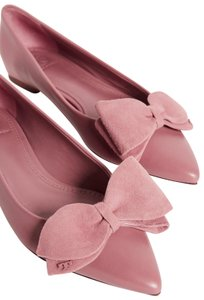 Tory Burch Suede Pink Magnolia Flats