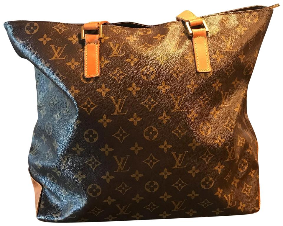 a7a995e5 Louis Vuitton Vintage Large Mezzo Brown Canvas Tote 66% off retail