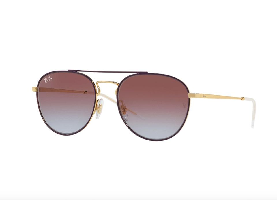 6166ece00e8 Ray-Ban Gold   Purple Rb 3589 9059 Free 3 Day Shipping Aviator Sunglasses