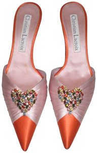 Christian Lacroix pink/orange Mules