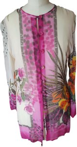 Gottex Silk Floral Tropical Print Cover-Up