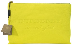 Burberry bright yellow Clutch