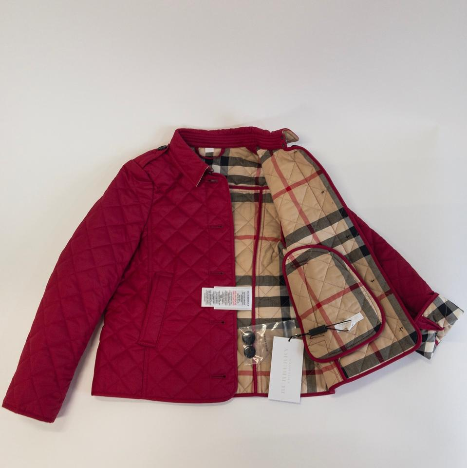 Burberry Crimson Pink Girls Quilted Little Kid Big Kid Jacket Size Os One Size 32 Off Retail