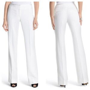 White House | Black Market Boot Cut Pants ivory