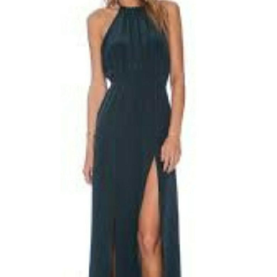 Stone Cold Fox Dark Green Onyx Gown Long Formal Dress Size 12 (L ...
