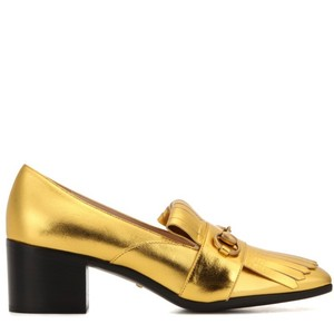 Gucci Loafers Polly Loafers Kiltie Gold Pumps