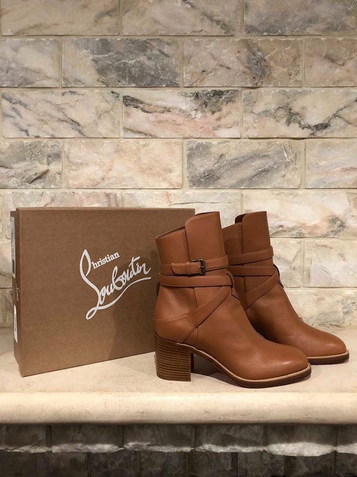 sports shoes e5ee4 c6ee5 Christian Louboutin Brown Karistrap 70 Boots/Booties Size EU 38.5 (Approx.  US 8.5) Regular (M, B) 49% off retail