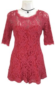 Love Culture Lace Scalloped Floral Sweetheart Dress