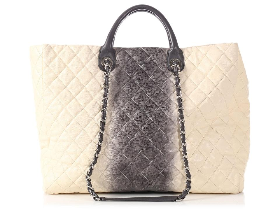 c828ec410b Chanel Silver Hardware Ch.l1116.02 Quilted Tote in Cream and Grey Ombre  Image ...