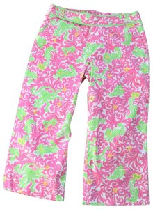 Lilly Pulitzer Capris white/pink/green