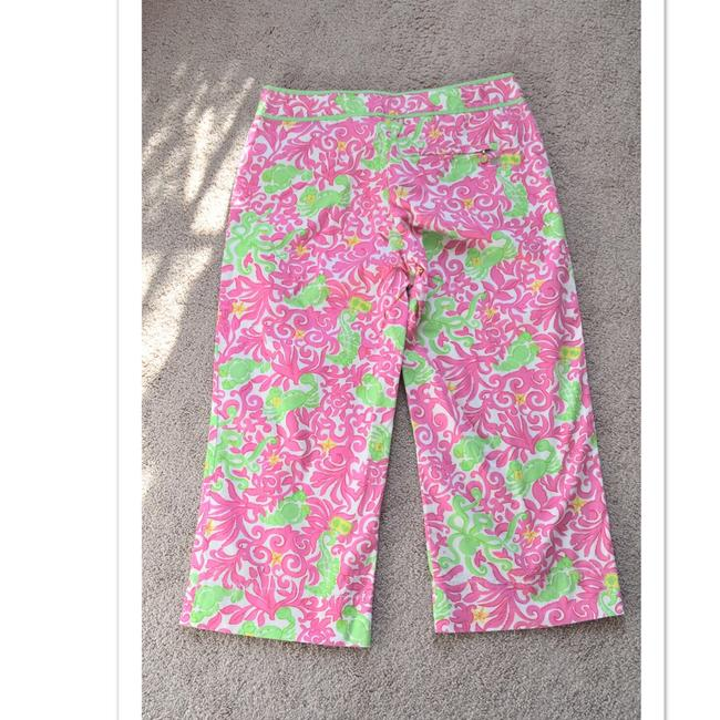 Lilly Pulitzer Capris white/pink/green Image 1