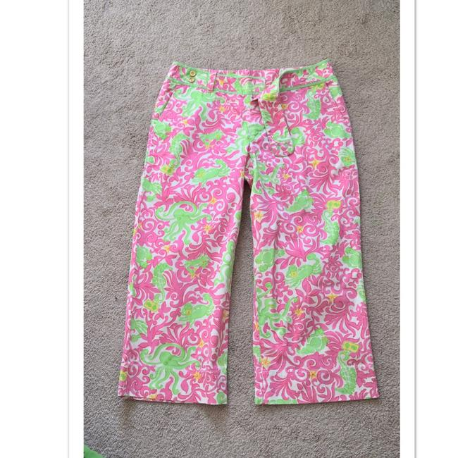 Lilly Pulitzer Capris white/pink/green Image 3