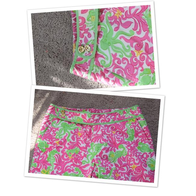 Lilly Pulitzer Capris white/pink/green Image 4
