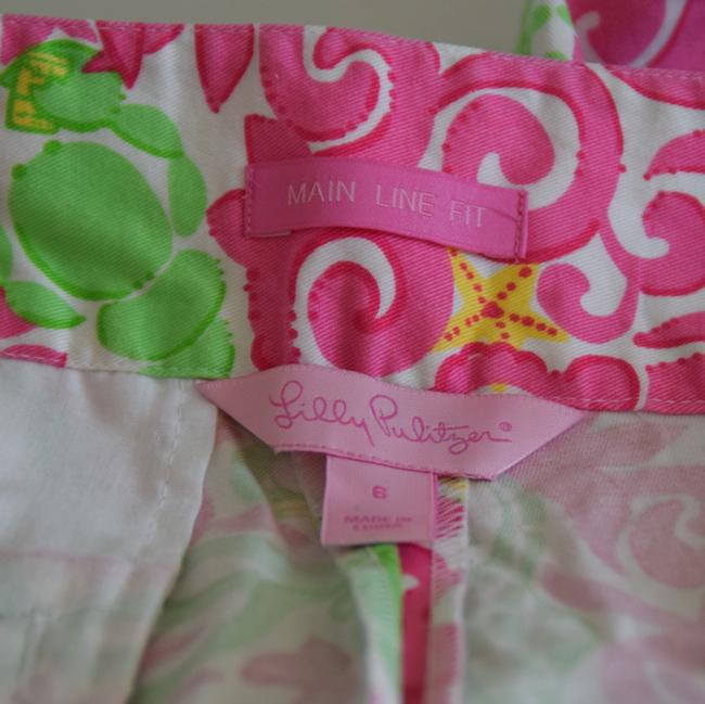 Lilly Pulitzer Capris white/pink/green Image 5