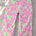 Lilly Pulitzer Capris white/pink/green Image 9