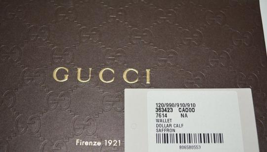 Gucci NIB GUCCI WOMENS LEATHER ZIP AROUND WALLET CLUTCH MADE IN ITALY Image 2
