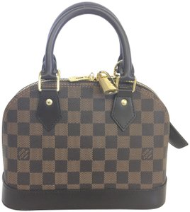 Louis Vuitton Lv Alma Bb Satchel in damier ebene