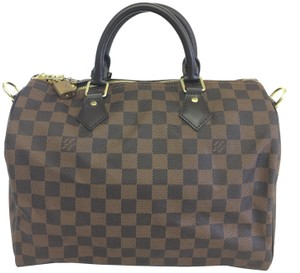 Louis Vuitton Damier Ebene Bandouliere 30 Speedy Satchel in brown