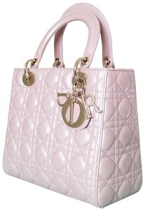 Dior Lady Purse Sachet Tote in Pink