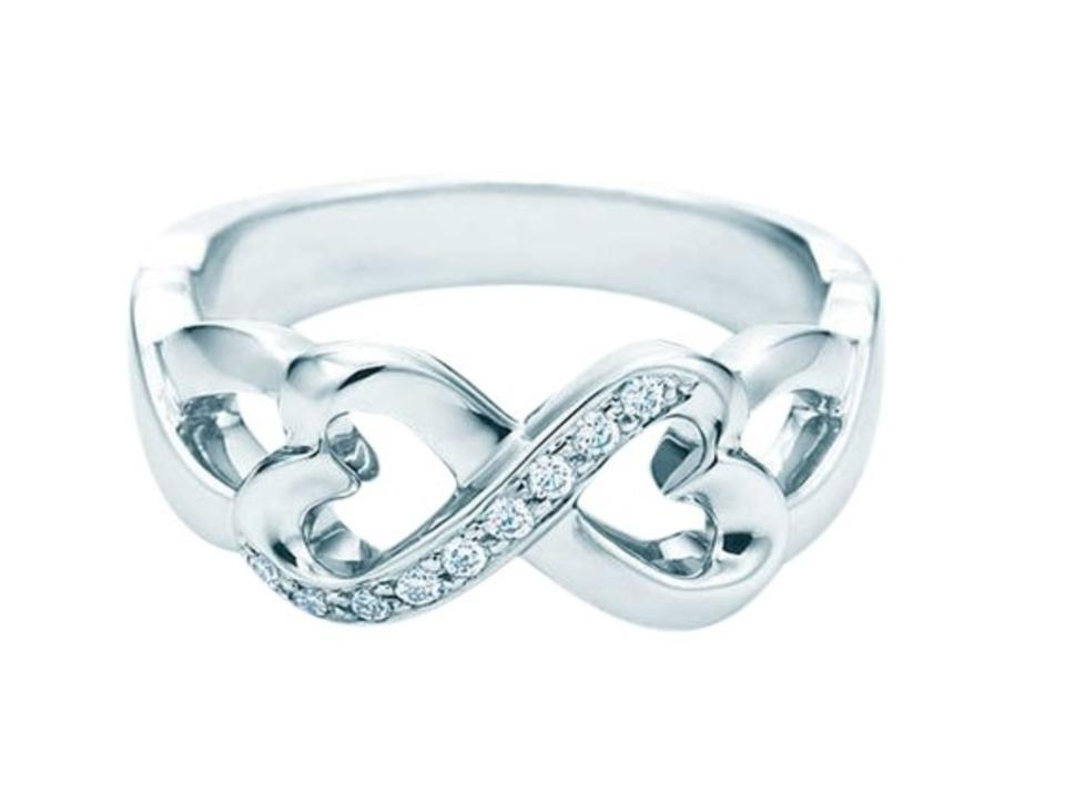 de095b8c4 Tiffany & Co. White Gold Paloma Picasso Double Loving Heart Ring ...