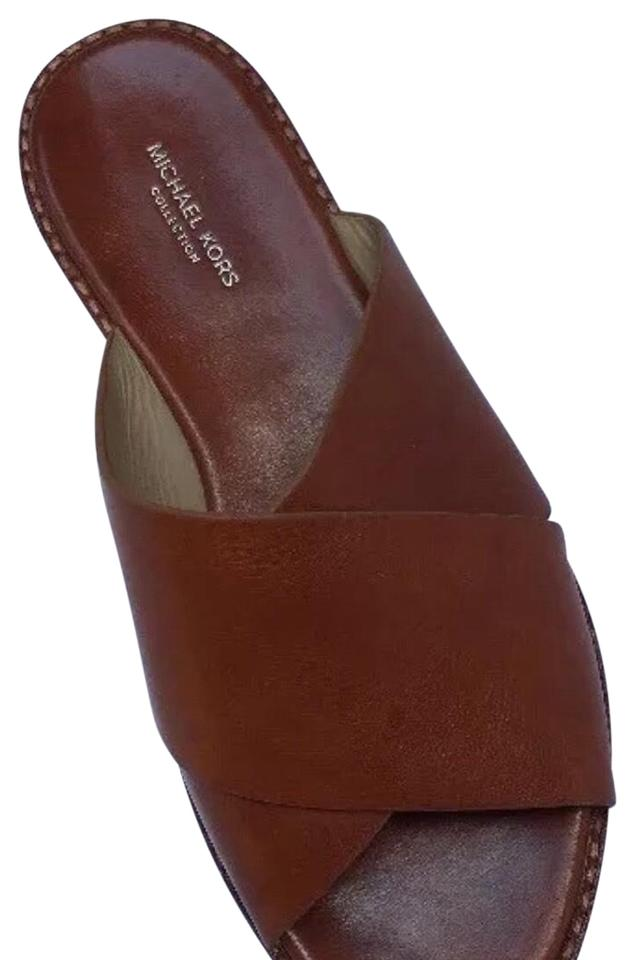 d43aba88a7a2 Michael Kors Brown Crossover Sage Sandals Size EU 37.5 (Approx. US ...