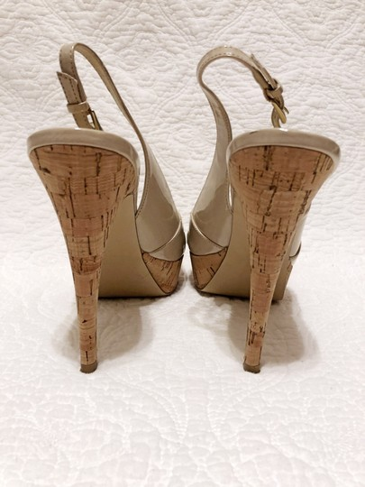 Guess Cork Peep Toe Slingback Spring Light natural Platforms Image 3