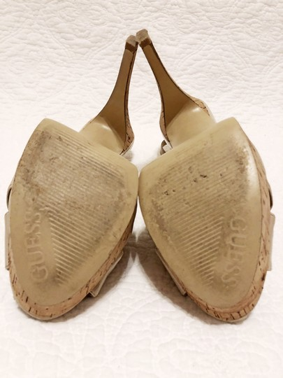 Guess Cork Peep Toe Slingback Spring Light natural Platforms Image 6