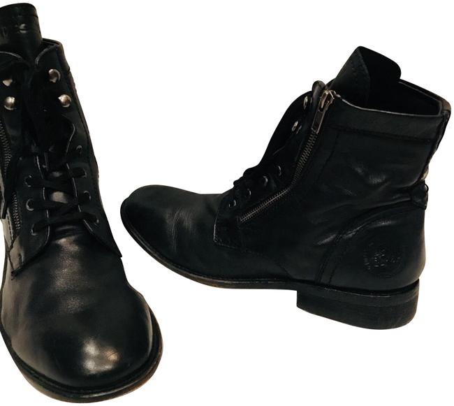 Diesel Black Leather Ankle Boots - 12 Size EU 45 (Approx. US 15) Regular (M, B) Diesel Black Leather Ankle Boots - 12 Size EU 45 (Approx. US 15) Regular (M, B) Image 1