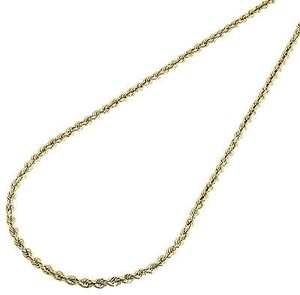 Other 10k Yellow Gold Mens Or Ladies Hollow Rope Chain Necklace Mm 14 - 30 Inches