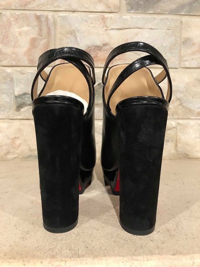 Christian Louboutin Forgeron Stiletto Platform Bootie Ankle Strap Black Pumps Image 10