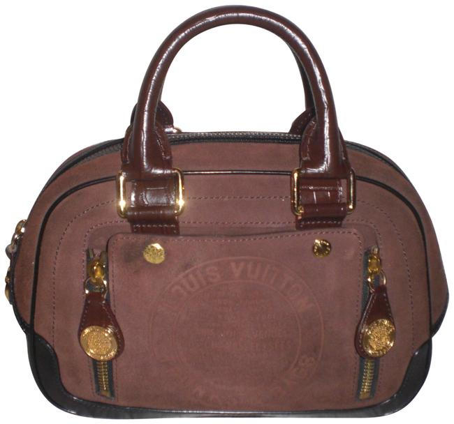 Item - Limited Edition Bowler Stamped Trunk Hand Multi Color Leather Satchel