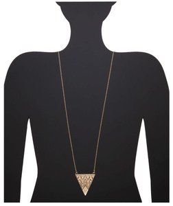 House of Harlow 1960 House of Harlow 1960 Gold Zig Zag Tribal Triangle Necklace