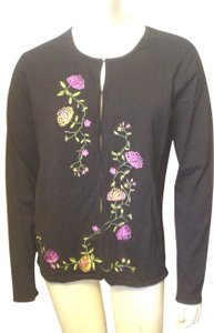 Obee Embroidered Cardigan Career Casual Sweater