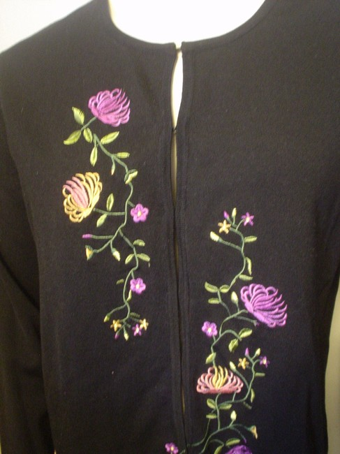 Obee Embroidered Cardigan Career Casual Sweater Image 2