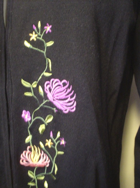 Obee Embroidered Cardigan Career Casual Sweater Image 3