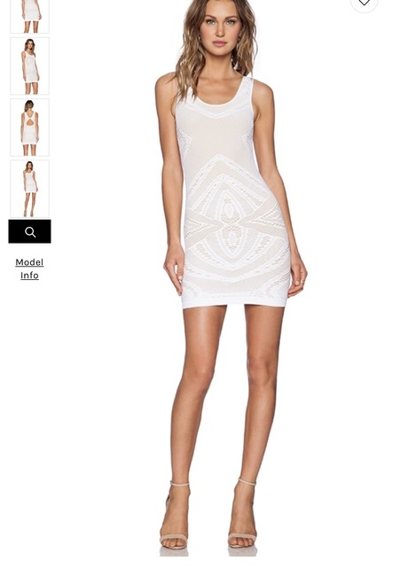 Item - White Pearl Flower Short Cocktail Dress Size 2 (XS)