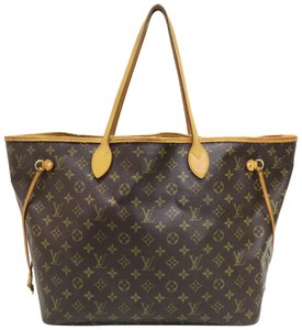 Louis Vuitton Canvas Neverfull Shoulder Bag