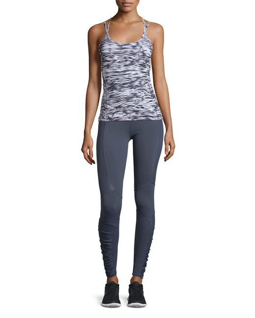 ALO Yoga Runway Ruched Paneled Performance Pants, Ombre Blue/Glossy Image 1
