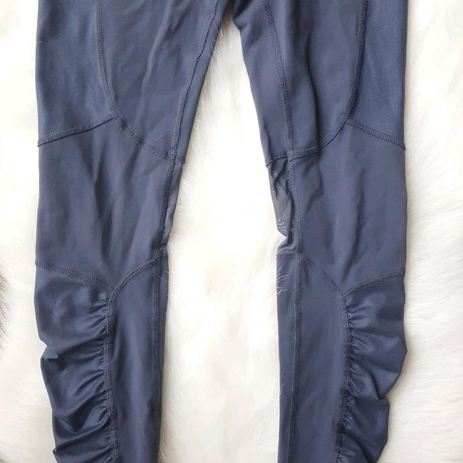 ALO Yoga Runway Ruched Paneled Performance Pants, Ombre Blue/Glossy Image 5
