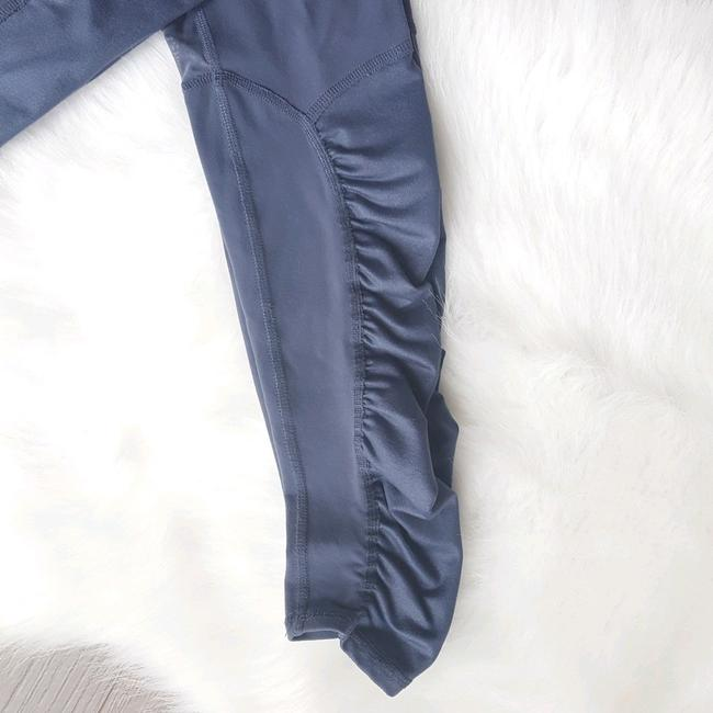 ALO Yoga Runway Ruched Paneled Performance Pants, Ombre Blue/Glossy Image 6