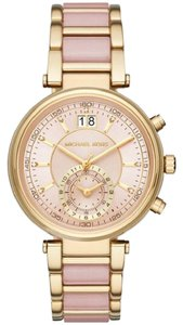 Michael Kors Michael Kors Women's Sawyer Gold/Blush Chronograph Watch MK6360