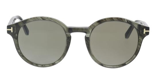 Tom Ford Tom Ford FT0400/S 20B LUCHO Grey Round Sunglasses Image 2