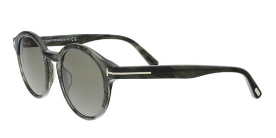 Tom Ford Tom Ford FT0400/S 20B LUCHO Grey Round Sunglasses Image 4