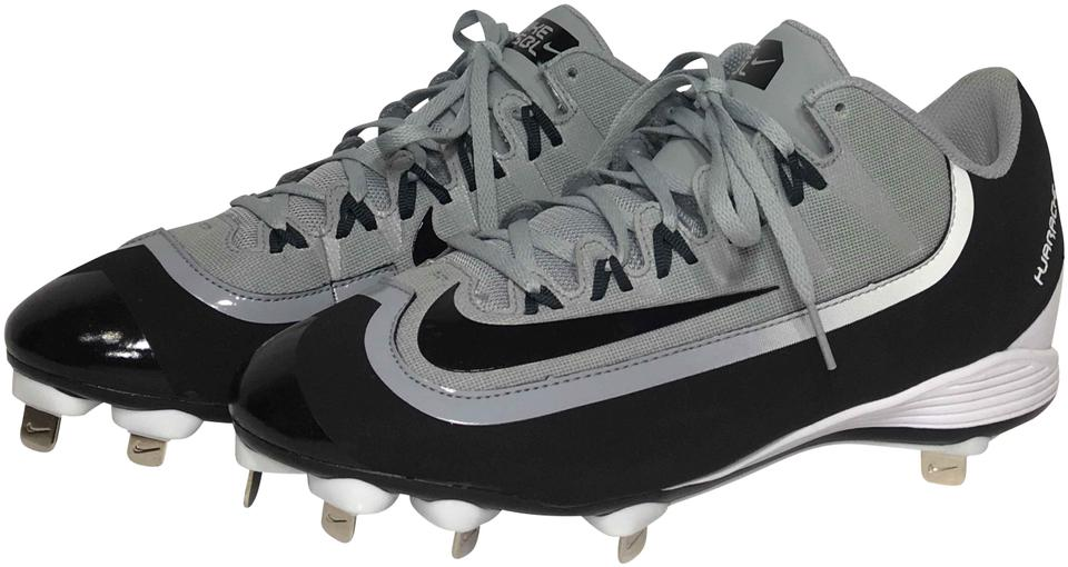 watch bc4a8 e829c Nike Black Gray Mens Huarache 2kfilth Pro Low Baseball Metal Cleats Sneakers