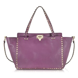 Valentino Tote in Aubergine Purple