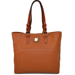 Dooney & Bourke Small Pammy Pebble Leather Tote in Desert